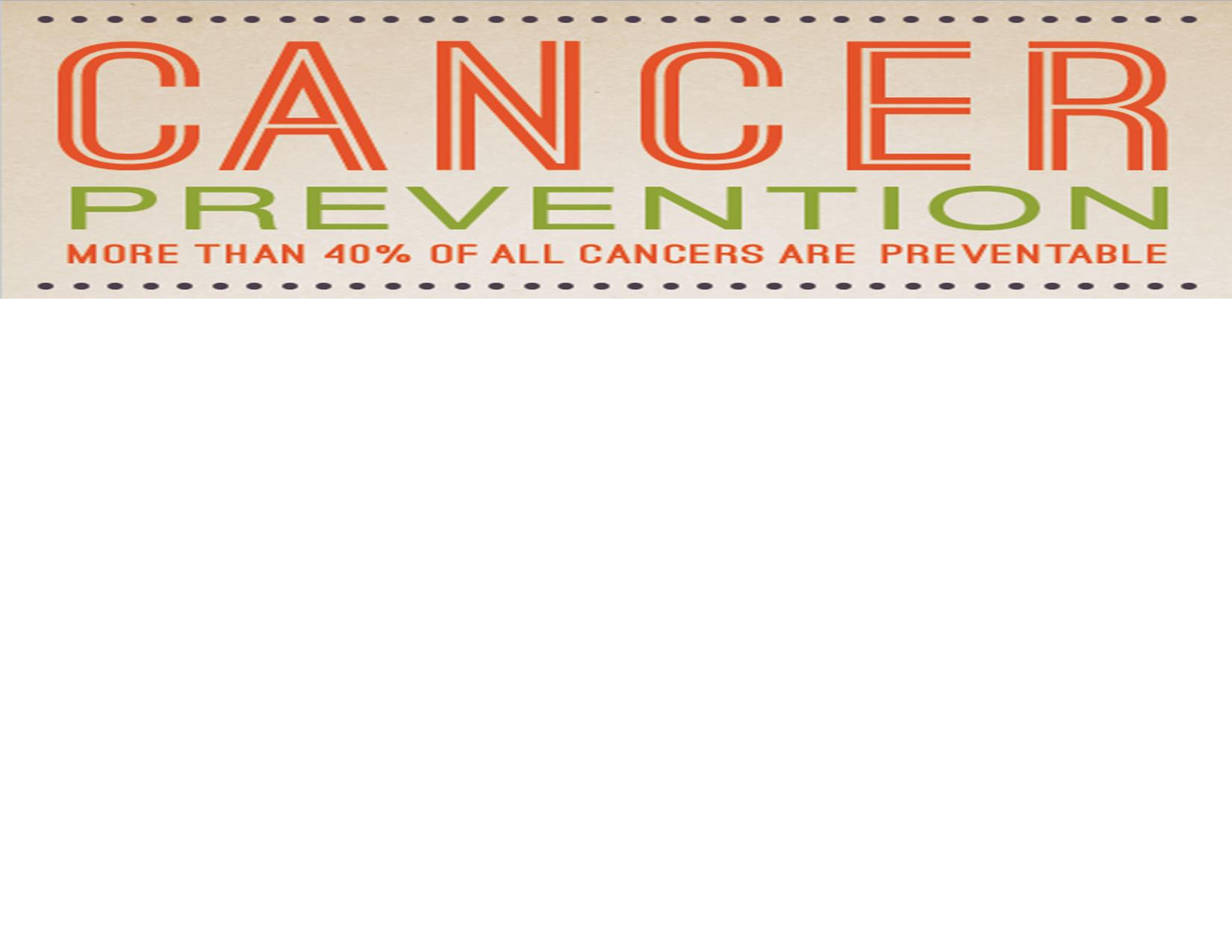 Cancer Prevention Rack Card Now Available