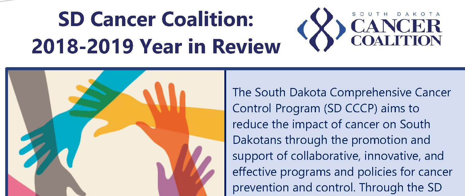 SD Cancer Coalition 2018-2019 Year in Review