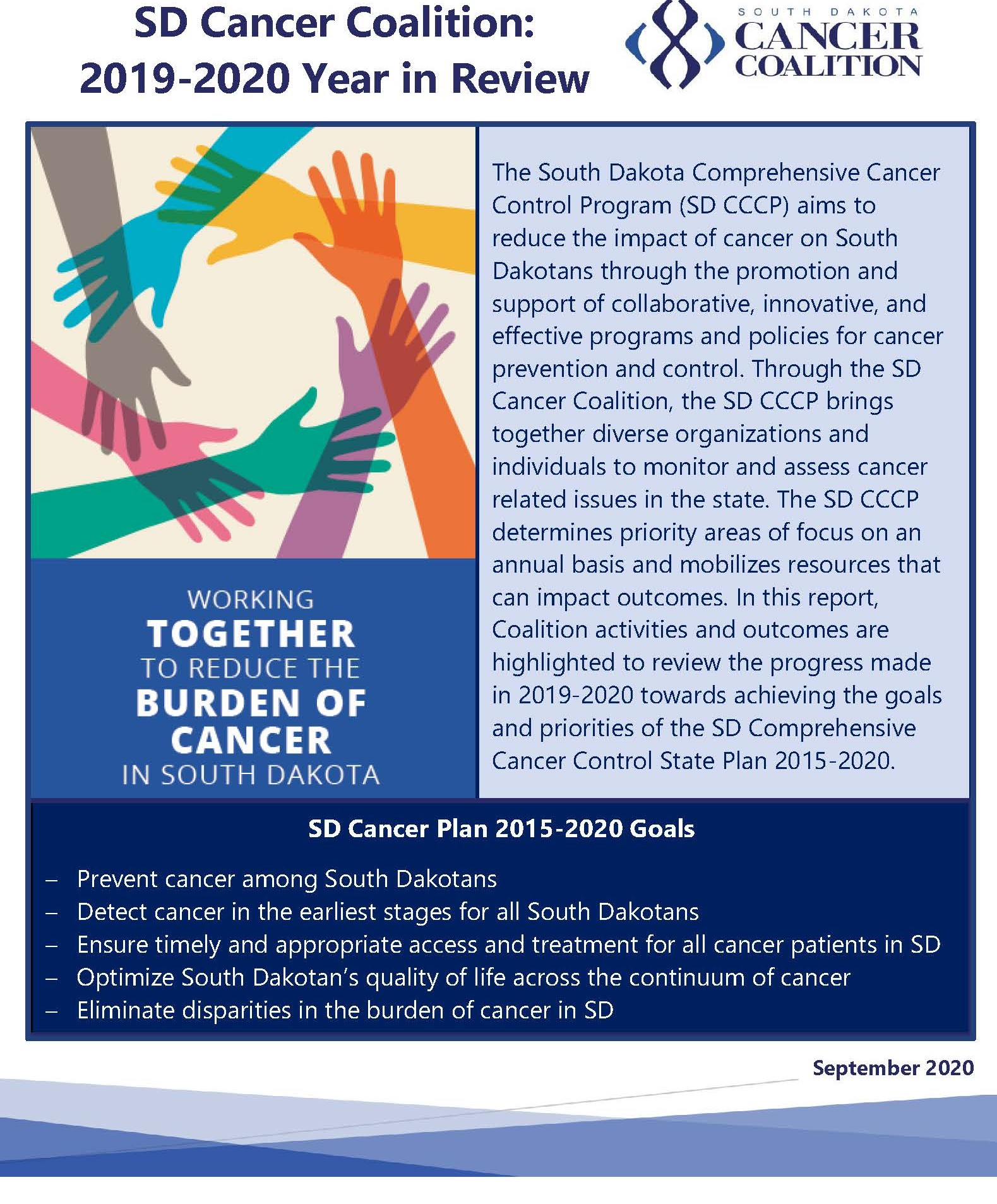 SD Cancer Coalition 2019-2020 Year in Review
